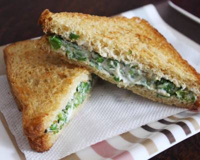 Green Peas Sandwich Recipe