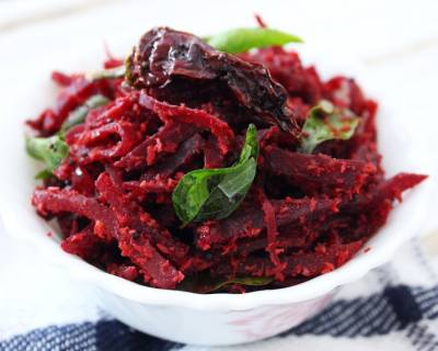 Karnataka Style Beetroot Palya Recipe