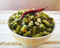 Kothavarangai Poriyal Recipe - South Indian Style Cluster Beans Sabzi