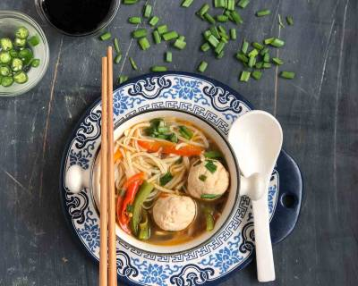 Mee Bakso Recipe - Indonesian Meatball Noodle Soup