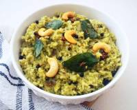 Pudina Khara Pongal Recipe (Rice and Lentils Cooked With Mint Leaves & Mild Spices)