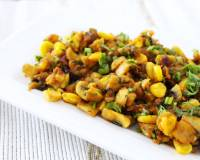Mushroom Masala With Corn Recipe