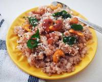 Karwar Style Phodni Phov Recipe- Red Rice Poha With Cashew Nuts