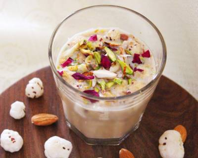 Phool Makhana Kheer Recipe - Sweetened With Jaggery