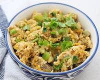 Scrambled Eggs With Ridge Gourd Sabzi Recipe
