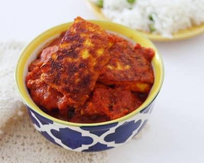 Kashmiri Style Tamatar Chaman Recipe -Paneer Cooked With Tomatoes