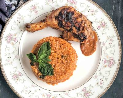 Tomato Basil Risotto Recipe With Grilled Chicken