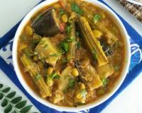 Maharashtrian Style Bhogichi Bhaji Recipe - Mixed Vegetable Curry