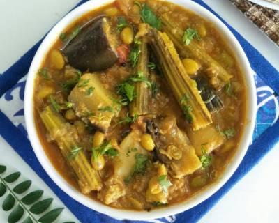 Maharashtrian recipes marathi recipes by archanas kitchen maharashtrian style bhogichi bhaji recipe mixed vegetable curry forumfinder Gallery
