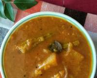 Udupi Style Sambar Recipe - Masala Huli With Mixed Vegetables