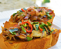 Basil And Mushroom Toast With Thai Red Chilli Recipe