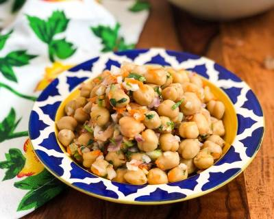 Chatpata Kabuli Chana Salad - Chickpea Salad Recipe