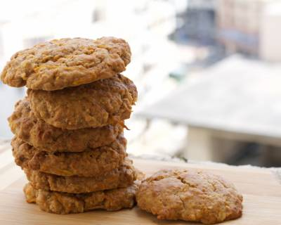 Oats Carrot Cake Cookies Recipe