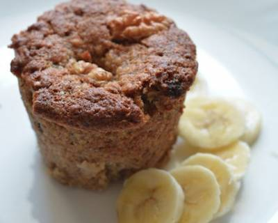Oatmeal Banana Mini Cake Recipe With Walnuts