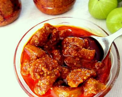 Amla Achaar Recipe | Hot & Sweet Indian Gooseberry Pickle