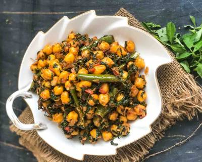 Sukhe Methi Chole Recipe