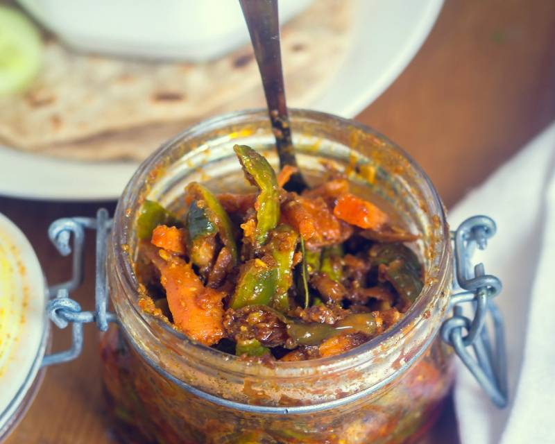 Instant Tindora And Carrot Pickle Recipe