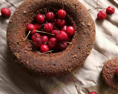 Dark Chocolate Cherry Cake Recipe