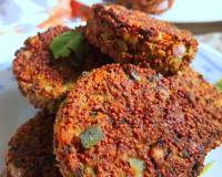 Sprouted Ragi Chicken Cutlet Recipe