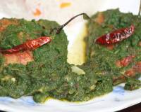 Hariyali Machali Recipe - Carp Fish In Green Spinach And Coriander Gravy