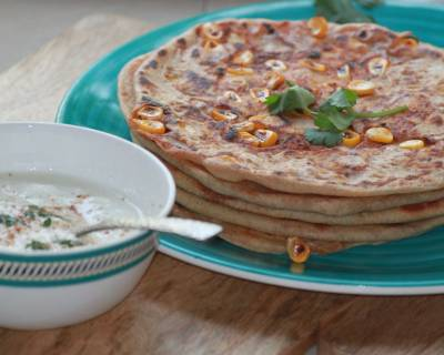 Corn Stuffed Paratha Recipe