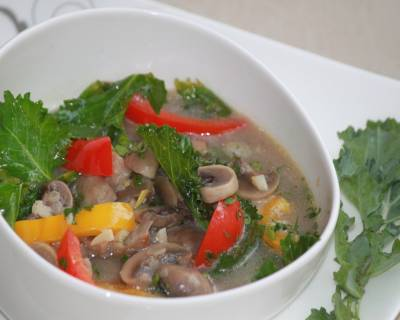 Kale And Mushroom French Soup Recipe