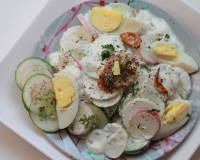 Russian Radish Cucumber Salad Recipe