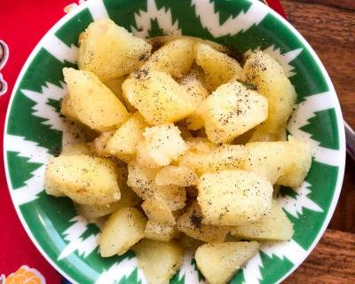Buttered Potato Cubes Recipe - Finger Food For Babies Above 9 Months