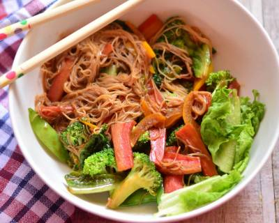 Budhha's Delight Recipe (Thin Rice Noodles With Vegetables)