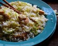 Chinese Fried Rice Recipe With Chicken And Shredded Lettuce