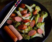 Chinese Style Sweet And Spicy Broccoli Stir Fry With Sausage Recipe