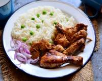 Jerk Chicken With Rice And Peas Pilaf Recipe