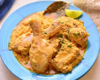Posto Chicken Recipe - Bengali Chicken In Poppy Seed Paste
