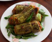 Bharwa Karela With Sweet Potato Filling Recipe