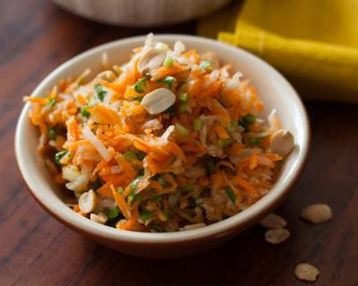 Carrot, Radish & Peanut Salad with Lemon Recipe