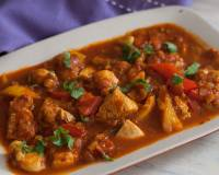 Chicken Jalfrezi Recipe - Chicken And Bell Peppers In Tomato Gravy