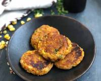 Potato Sweet Corn & Cheese Cutlet  - Cheesy Sweet Corn Patty
