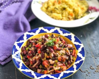 Chatpata Rajma Salad Recipe - Kidney Beans Salad Recipe