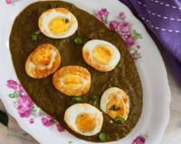 Kolhapuri Palak Egg Curry Recipe