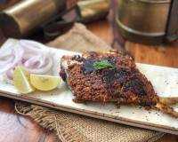 Konkani Style Pomfret Fry Recipe - South Indian Fish Fry Recipe