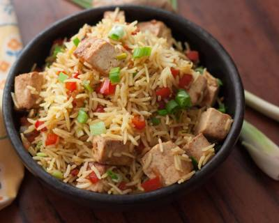 Lemongrass Flavored Tofu Fried Rice Recipe