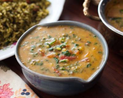 Methi Moong Dal Palak Recipe