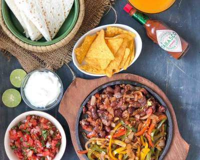 Mexican Vegetarian Fajitas Recipe