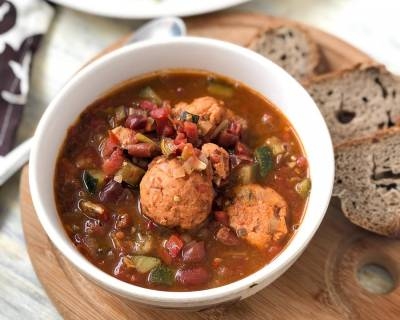 Mexican Chicken Meatball Chilli Stew Recipe