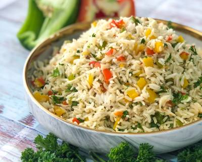 Bell Pepper & Parsley Rice Recipe