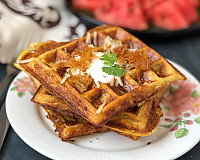 Spicy Sweet Potato Hash Brown Waffles Recipe