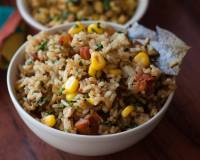 Sweet Corn, Methi & Tomato Rice Recipe