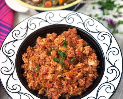 Menemen Recipe - Turkish Style Egg Scramble With Bell Peppers