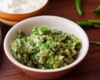Maharashtrian Green Chilli Thecha Recipe
