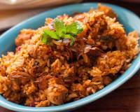 Andhra Style Vegetarian Biryani with Soya Chunks Recipe